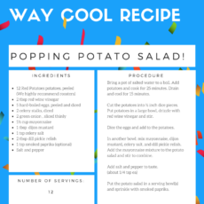 Popping Potato Salad
