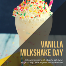 Happy Vanilla Milkshake Day