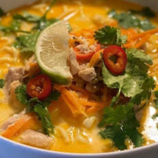 Dinner on the Table in 30! Thai Coconut Curry Soup
